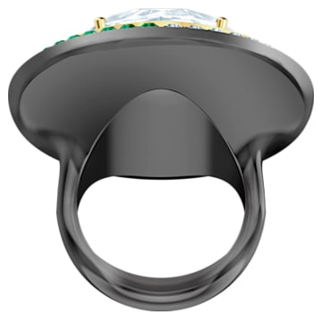 Black Baroque Cocktail Ring, White, Mixed metal finish - Swarovski, 5490984