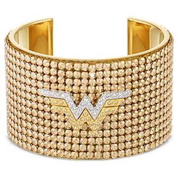 Fit Wonder Woman-brede armband, Goudkleurig, Gemengde metaalafwerking - Swarovski, 5492145