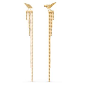 Τρυπητά σκουλαρίκια Fit Wonder Woman, χρυσή απόχρωση, επιχρυσωμένα - Swarovski, 5492148