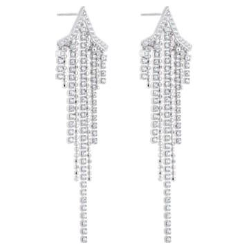 Orecchini Tassell Fit Star, bianco, Placcatura rodio - Swarovski, 5492758