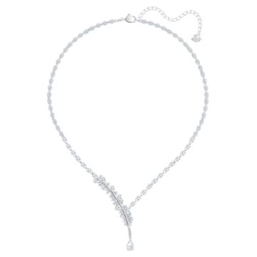 Nice 項鏈, 白色, 鍍白金色 - Swarovski, 5493401