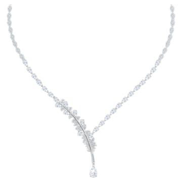 Collier Nice, blanc, Métal rhodié - Swarovski, 5493401