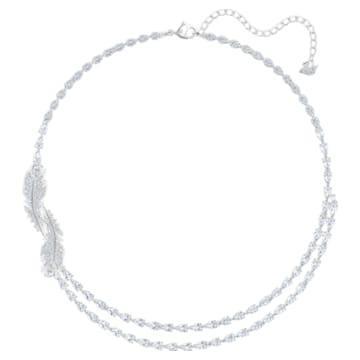 Nice 项链, 白色, 镀铑 - Swarovski, 5493404