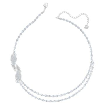 Collana Nice, Bianco, Placcato rodio - Swarovski, 5493404