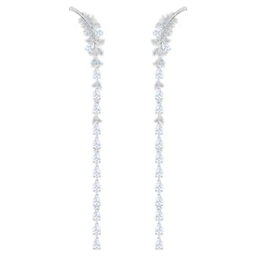 Boucles d'oreilles Nice, blanc, Métal rhodié - Swarovski, 5493406