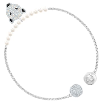 Polar Bestiary 手鏈, 白色, 鍍銠 - Swarovski, 5493706