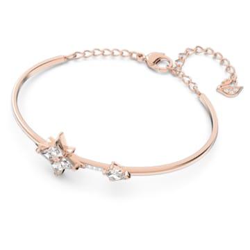 Swarovski Symbolic 手鐲, 星星, 白色, 鍍玫瑰金色調 - Swarovski, 5494338
