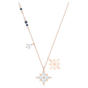 Pandantiv Star Swarovski Symbolic, alb, placat în nuanță aur roz - Swarovski, 5494352