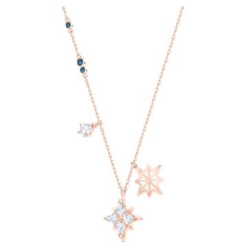 Colgante Swarovski Symbolic Star, blanco, Baño en tono Oro Rosa - Swarovski, 5494352