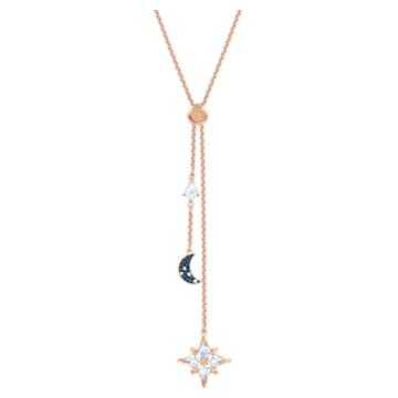 Κολιέ σε σχήμα Υ Swarovski Symbolic, πολύχρωμο, επιχρυσωμένο σε χρυσή ροζ απόχρωση - Swarovski, 5494357