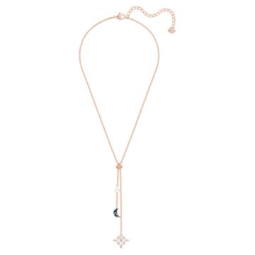 Colier Y Swarovski Symbolic, multicolor, placat în nuanță aur roz - Swarovski, 5494357