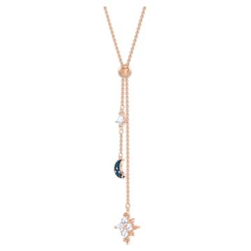 Swarovski Symbolic Y-Halskette, mehrfarbig, Rosé vergoldet - Swarovski, 5494357