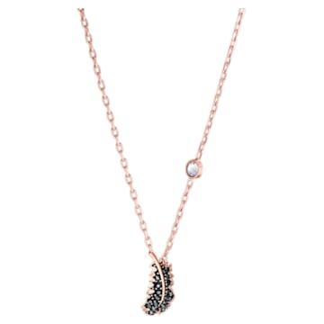 Naughty nyaklánc, fekete, rózsaarany színű bevonattal - Swarovski, 5495292