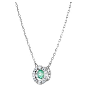 Swarovski Sparkling Dance Halskette, grün, Rhodiniert - Swarovski, 5496308