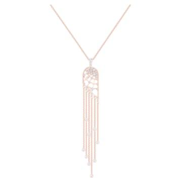 Precisely 項鏈, 白色, 鍍玫瑰金色調 - Swarovski, 5496492