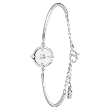 North Bangle, White, Rhodium plated - Swarovski, 5497227