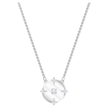 North 项链, 白色, 镀铑 - Swarovski, 5497232