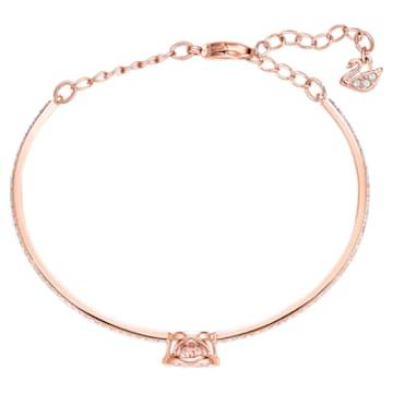 Swarovski Sparkling Dance Жёсткий браслет, Белый Кристалл, Покрытие оттенка розового золота - Swarovski, 5497483
