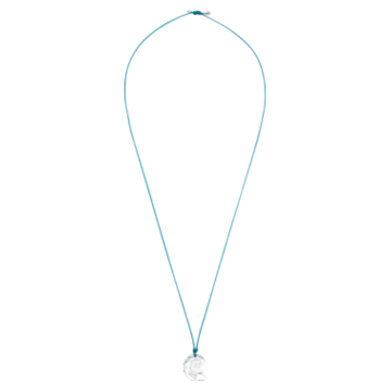 Swarovski Waterschool Necklace, Large, Light Blue, Rhodium plated - Swarovski, 5497570