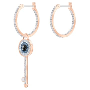 Swarovski Symbolic Hoop Pierced Earrings, Multi-colored, Rose-gold tone plated - Swarovski, 5497667