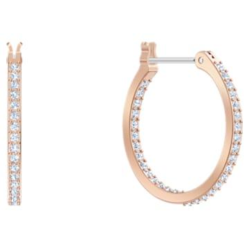 Swarovski Symbolic Hoop Pierced Earrings, Multi-colored, Rose-gold tone plated - Swarovski, 5497667
