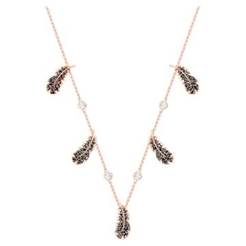 Naughty 束颈项链, 黑色, 镀玫瑰金色调 - Swarovski, 5497874