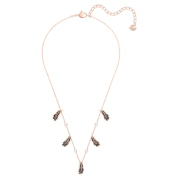 Naughty Choker, Black, Rose-gold tone plated - Swarovski, 5497874