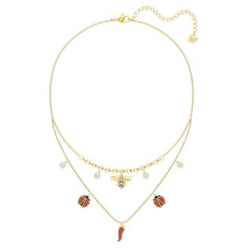 Lisabel necklace, Red, Gold-tone plated - Swarovski, 5498807