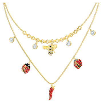 Lisabel 项链, 红色, 镀金色调 - Swarovski, 5498807
