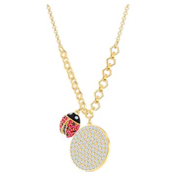 Collier Lisabel Coin, Rouge, Métal doré - Swarovski, 5498808
