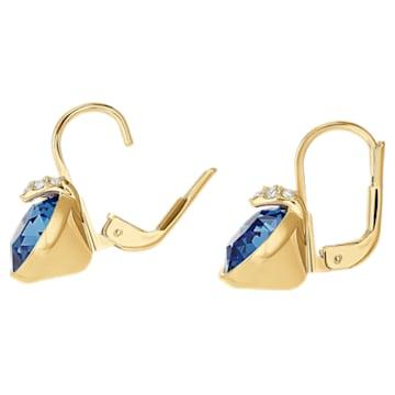 Bella V Ohrringe, Blau, Goldlegierungsschicht - Swarovski, 5498875