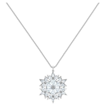 Pendentif Magic Snow, blanc, Métal rhodié - Swarovski, 5498960