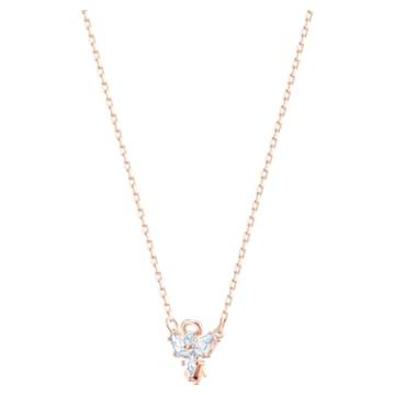 Κολιέ Magic Angel, λευκό, επιχρυσωμένο σε χρυσή ροζ απόχρωση - Swarovski, 5498966