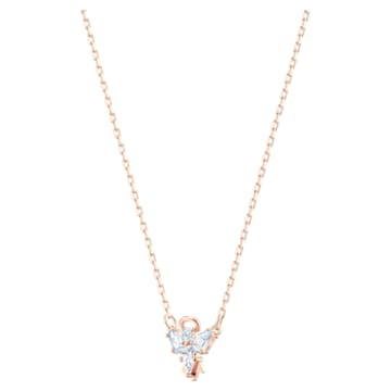 Collier Magic, Ange, Blanc, Placage de ton or rosé - Swarovski, 5498966