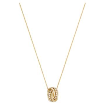 Collana Further, Bianco, Placcato color oro - Swarovski, 5498997