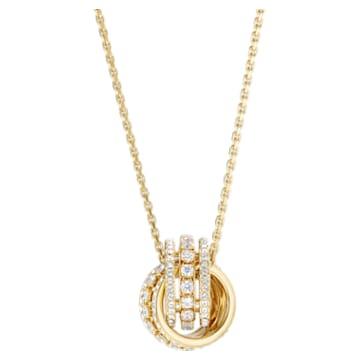 Collana Further, bianco, Placcato oro - Swarovski, 5498997