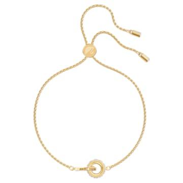 Braccialetto Further, bianco, Placcato oro - Swarovski, 5499000