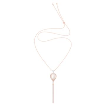 Into the Sky Pendant, White, Rose-gold tone plated - Swarovski, 5499529
