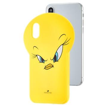 Looney Tunes Csőrike okostelefon tok, iPhone® X/XS, sárga - Swarovski, 5499820