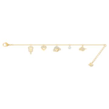 My Hero 手鏈, 多色設計, 鍍金色色調 - Swarovski, 5500975