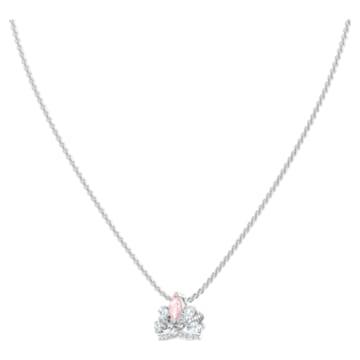 Bee A Queen 項鏈, 粉紅色, 鍍白金色 - Swarovski, 5501076