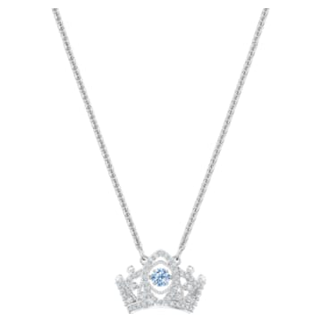 Pendentif Bee A Queen, bleu, Métal rhodié - Swarovski, 5501080