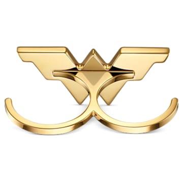Fit Wonder Woman Double Ring, Gold tone, Mixed metal finish - Swarovski, 5502819
