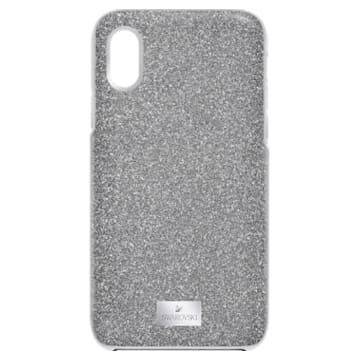 High Smartphone Case with integrated Bumper, iPhone® X/XS, Silver tone - Swarovski, 5503552