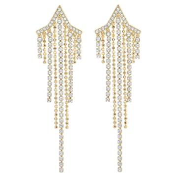 Boucles d'oreilles Fit Star Tassell, Blanc, Métal doré - Swarovski, 5504571