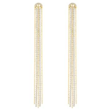 Boucles d'oreilles Tassell Fit, blanc, Métal doré - Swarovski, 5504572