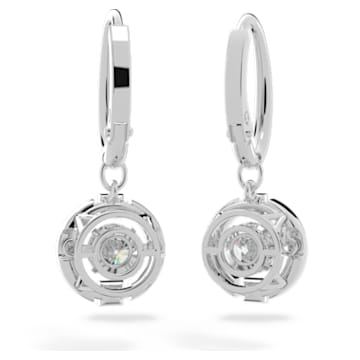 Boucles d'oreilles Swarovski Sparkling Dance, blanc, métal rhodié - Swarovski, 5504652