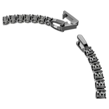 Bracelet Tennis Deluxe, noir, Métal plaqué ruthénium - Swarovski, 5504678