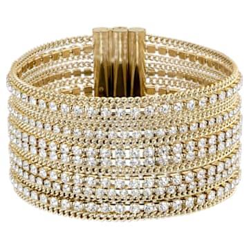Fit Wide karkötő, fehér, arany árnyalatú bevonattal - Swarovski, 5505333
