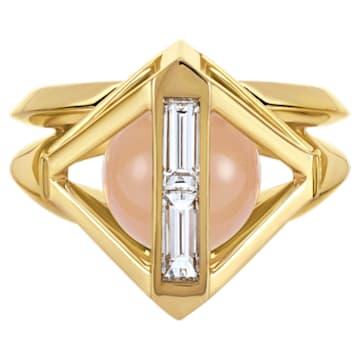 Double Diamond Ring, Created Diamonds, 14K Yellow Gold, Size 52 - Swarovski, 5505363